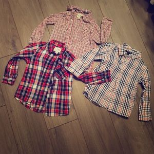 Other - 3 Boys Button Down Long Sleeve Shirts